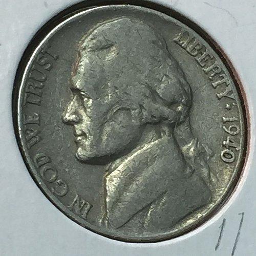 1940-P Jefferson Nickel (10201)