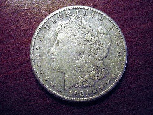 1921-S Morgan Silver Dollar - VF - #M40