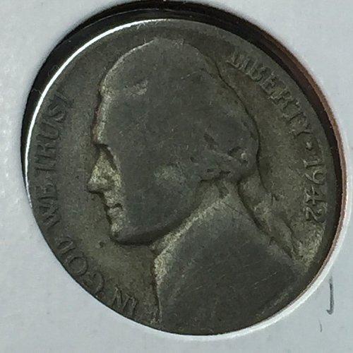 1942-P Jefferson Wartime Nickel (10220)