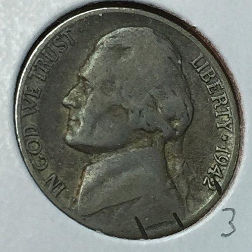 1942-S Jefferson Wartime Nickel (10221)