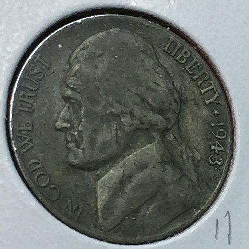 1943-P Jefferson Wartime Nickel (10225)