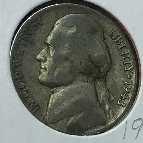 1943-P Jefferson Wartime Nickel (10229)