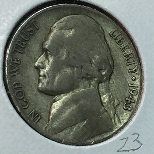 1943-P Jefferson Wartime Nickel (10231)