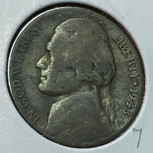 1943-P Jefferson Wartime Nickel (10233)