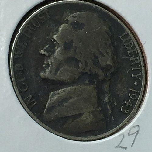 1943-P Jefferson Wartime Nickel (10234)