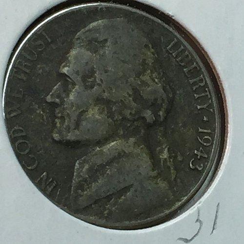 1943-P Jefferson Wartime Nickel (10235)