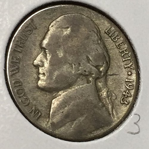 1943-S Jefferson Wartime Nickel (10237)