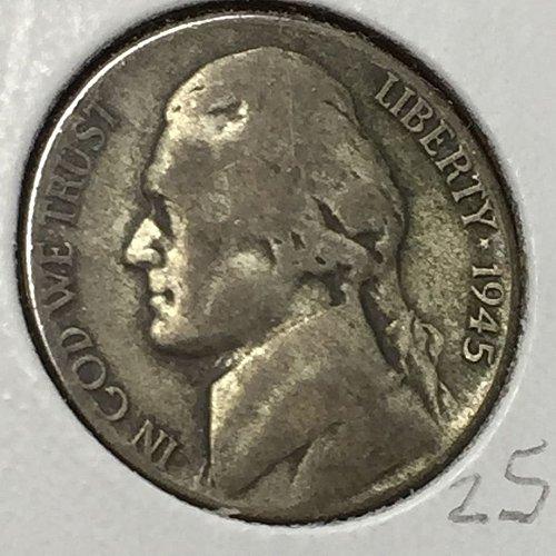 1945-S Jefferson Wartime Nickel (10248)