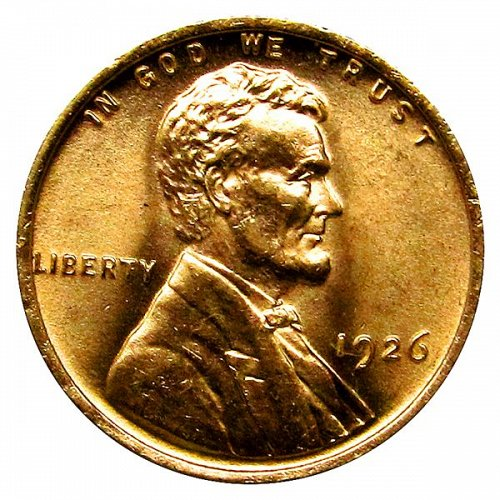 1926 P Lincoln Wheat Cent - MS RD - Gem BU Red