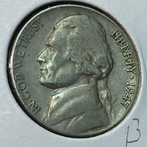1947-P Jefferson Nickel (10257)