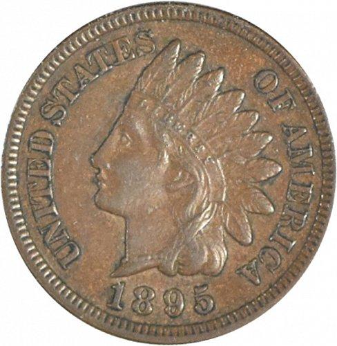 1895 P Indian Cent, AU 55, Brown, (Item 357)