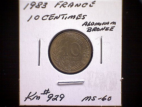 1983 FRANCE TEN CENTIMES