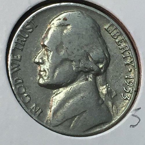 1953-D Jefferson Nickel (10270)