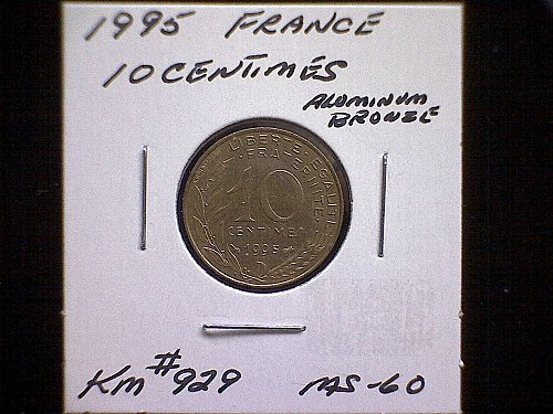 1995 FRANCE TEN CENTIMES