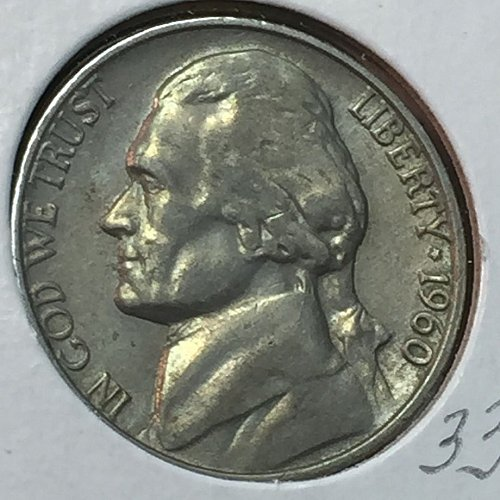 1960-P Jefferson Nickel (10284)