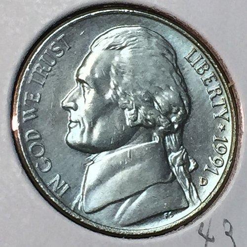 1991-D Jefferson Nickel (10289)
