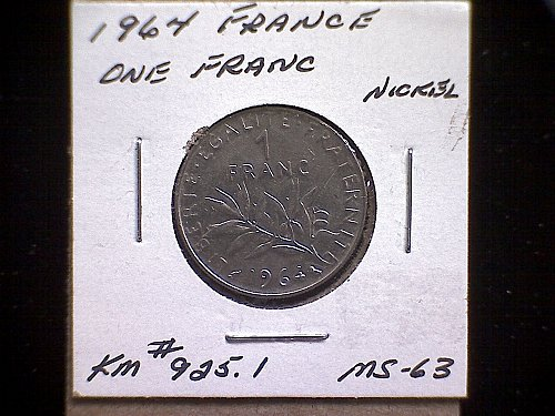 1964 FRANCE ONE FRANC