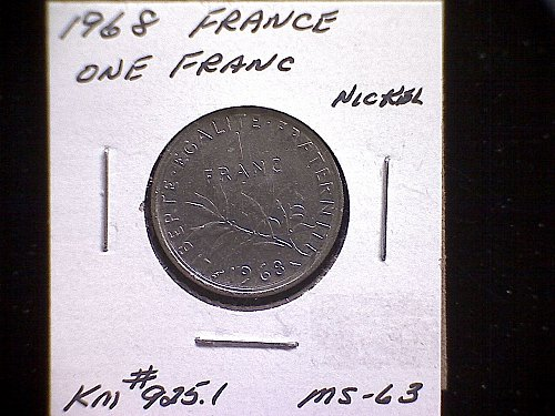 1968 FRANCE ONE FRANC