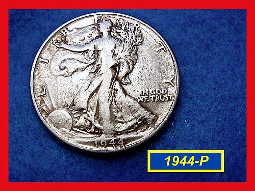 "1944-P  Liberty Walking Half  ★ ""VF""   (#1599)√"