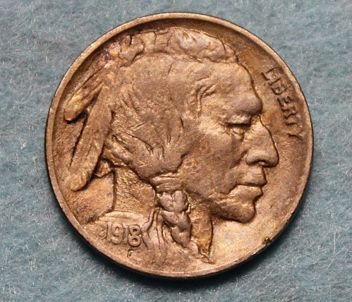 1918 P Buffalo Nickel
