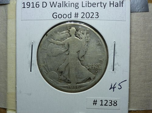 1916 D Walking Liberty Half Dollar.