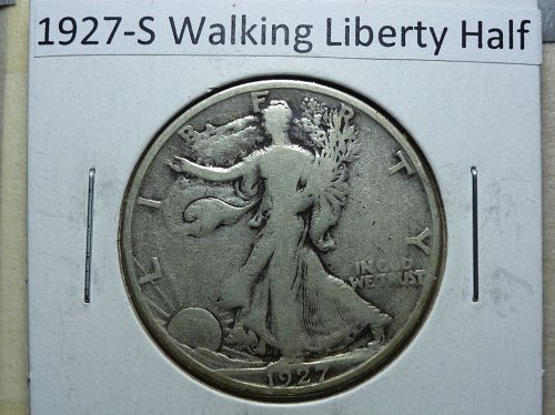 1927 S Walking Liberty Half Dollar. Grades  Fine