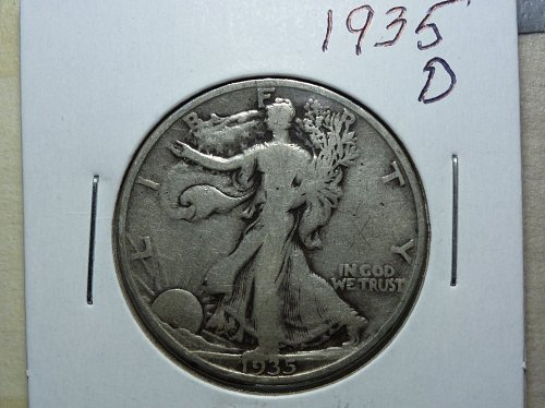 1935 D Walking Liberty Half Dollar.