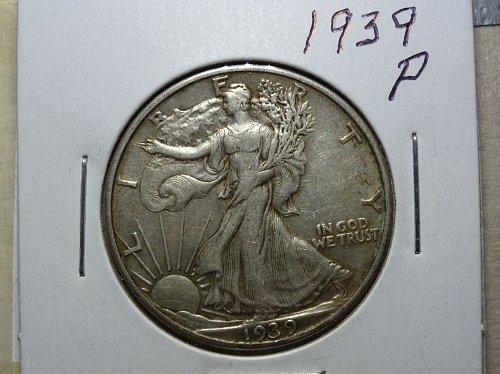 1939 P EF Walking Liberty Half Dollar