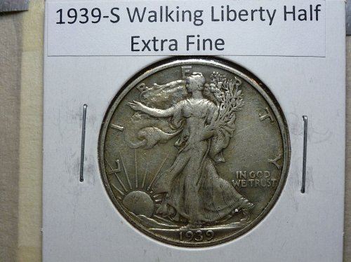 1939 S Extra Fine Walking Liberty Half Dollar