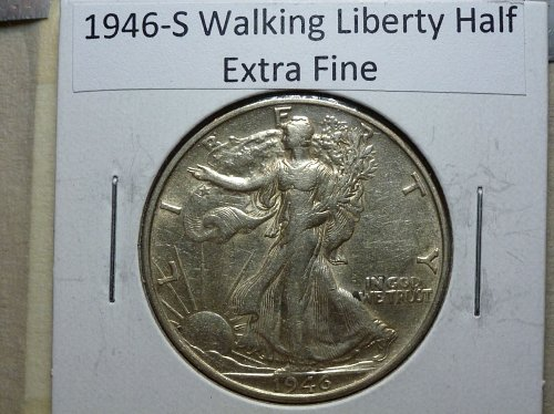 1946 S Extra Fine Walking Liberty Half Dollar