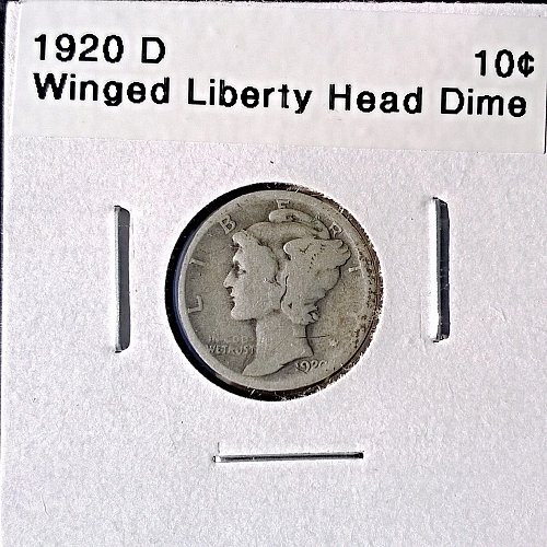 1920 D Winged Liberty Head Dime