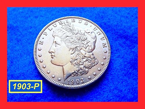 "1903-P MORGAN DOLLAR • • •  Uncirculated  ""MS-62""  (#5300)"