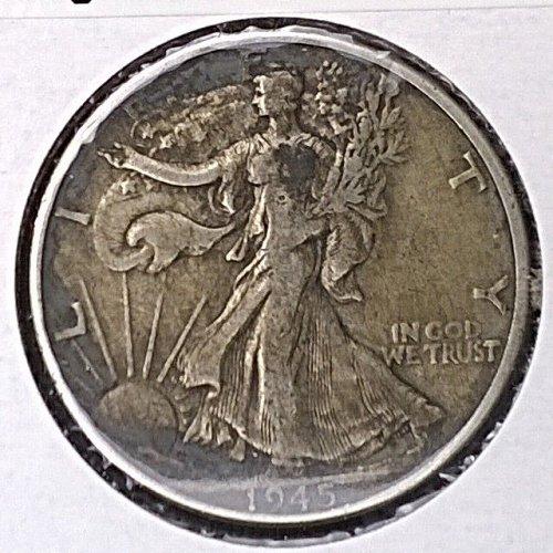1945 P Walking Liberty Half Dollar - 4 Photos!
