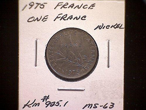 1975 FRANCE ONE FRANC