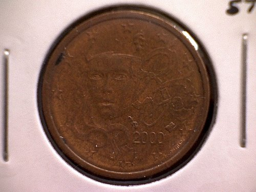 2000 FRANCE TWO EURO CENT