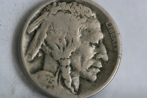 1925 D Buffalo nickel