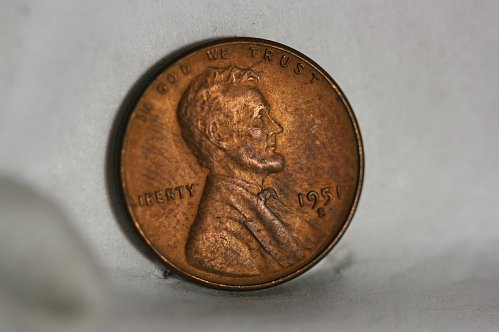 1951 S Lincoln cent red uncirculated