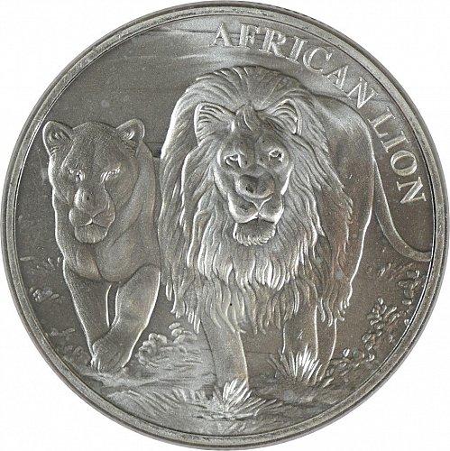 Republique du Congo, 2016, African Lion, 5000 francs,  (Item 364)