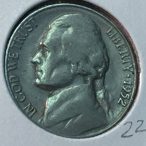 1952-S Jefferson Nickel (40458)