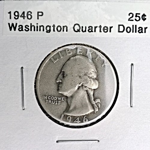 1946 P Washington Quarter Dollar