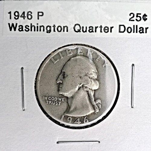 1946 P Washington Quarter Dollar