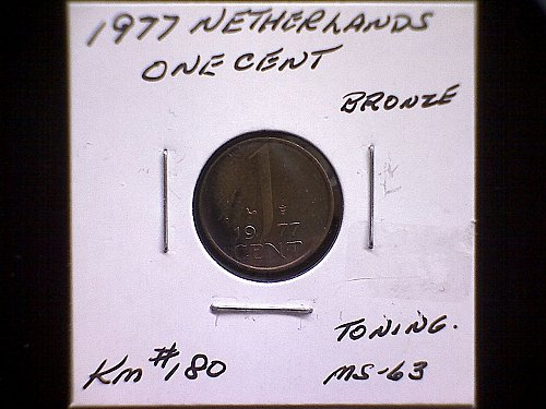 1977 NETHERLANDS ONE CENT