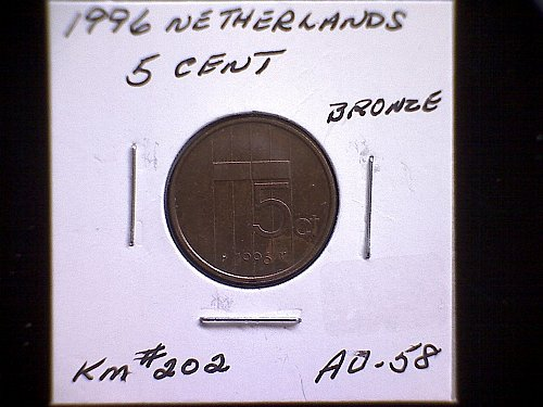 1996 NETHERLANDS FIVE CENT