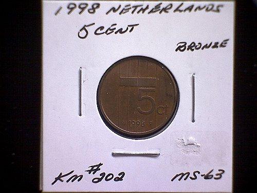 1998 NETHERLANDS FIVE CENT