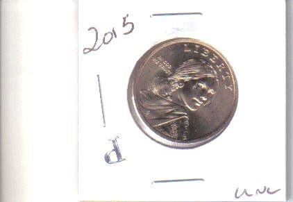 2015 P  SACAGAWEA GOLDEN DOLLAR