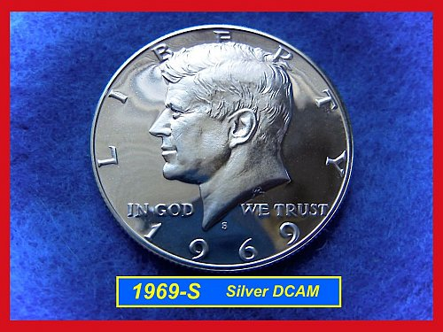 1969-S PROOF  DCAM  Kennedy Half Dollar •• UNC  40% Silver (#1555)