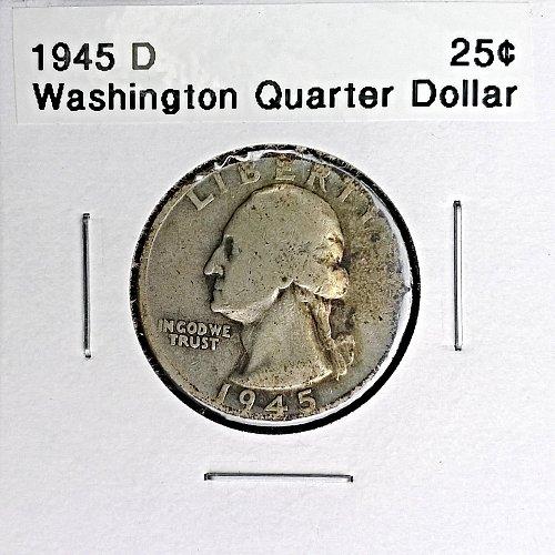 1945 D Washington Quarter Dollar