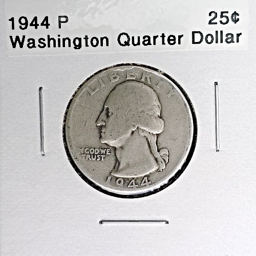 1944 P Washington Quarter Dollar