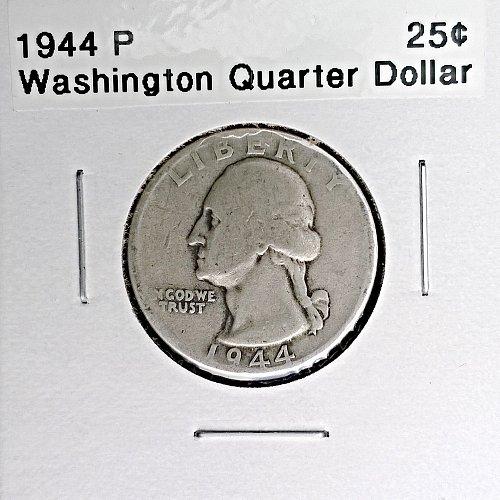 1944 P Washington Quarter Dollar