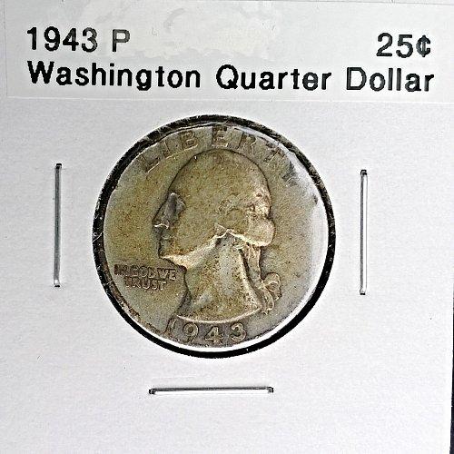 1943 P Washington Quarter Dollar